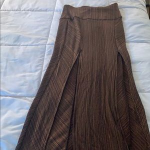 NWOT FP Long Double Split Skirt